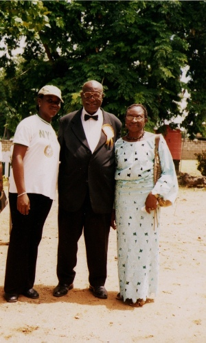 With my parents during my Exhibition in 2007