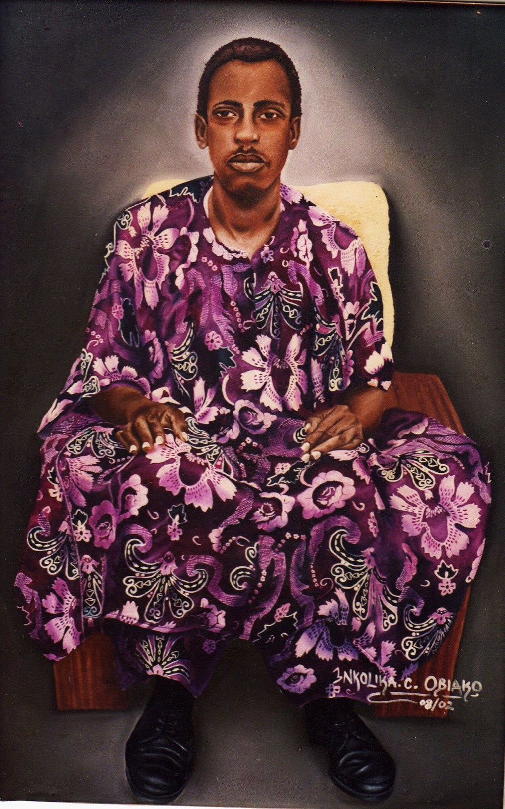 Oil portrait by Nkolika Anyabolu