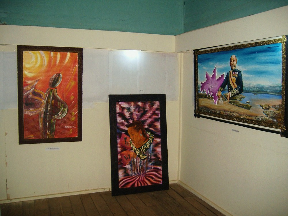 A Section Of Artworks On Display