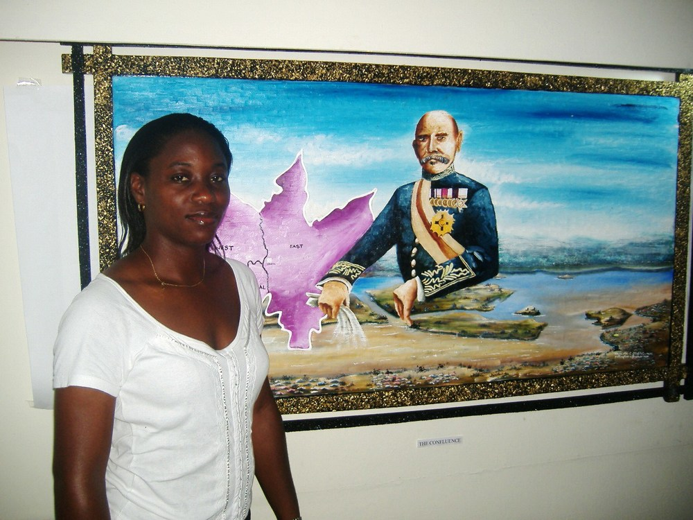 Standing Beside A Large Painting Of Lord Luggard