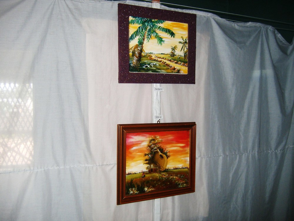 Paintings Of Local Scenes On Display