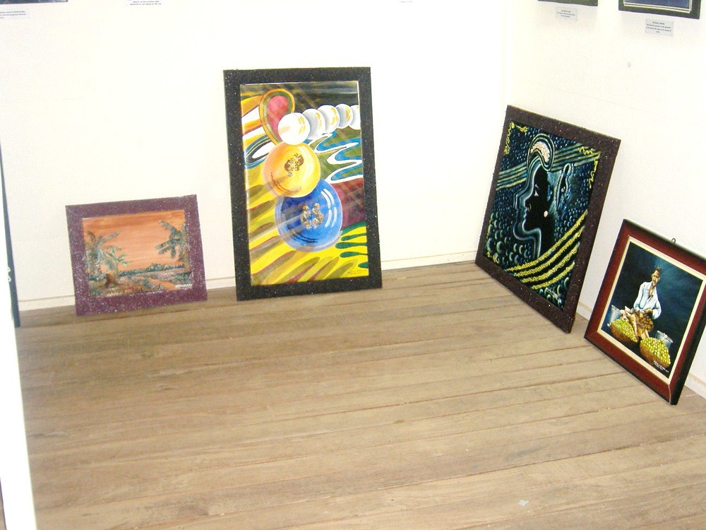 Some Abstract Paintings On Display
