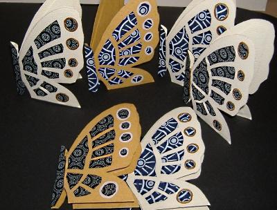Butterfly handmade cards by Nkolika Anyabolu