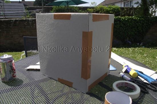 How to make a greeting card display stand by Nkolika Anyabolu