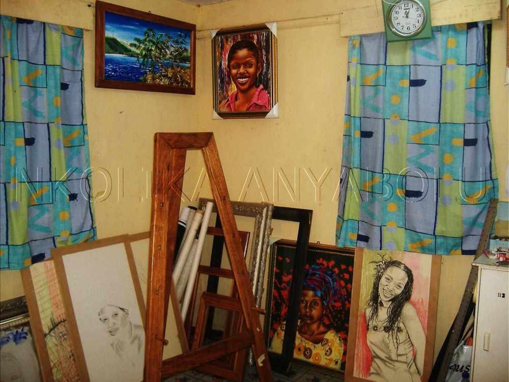 Nkolika Anyabolu's art studio