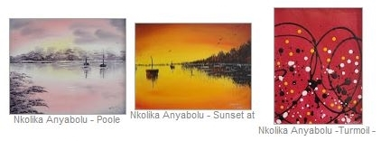 Exhibition of paintings by Nkolika Anyabolu