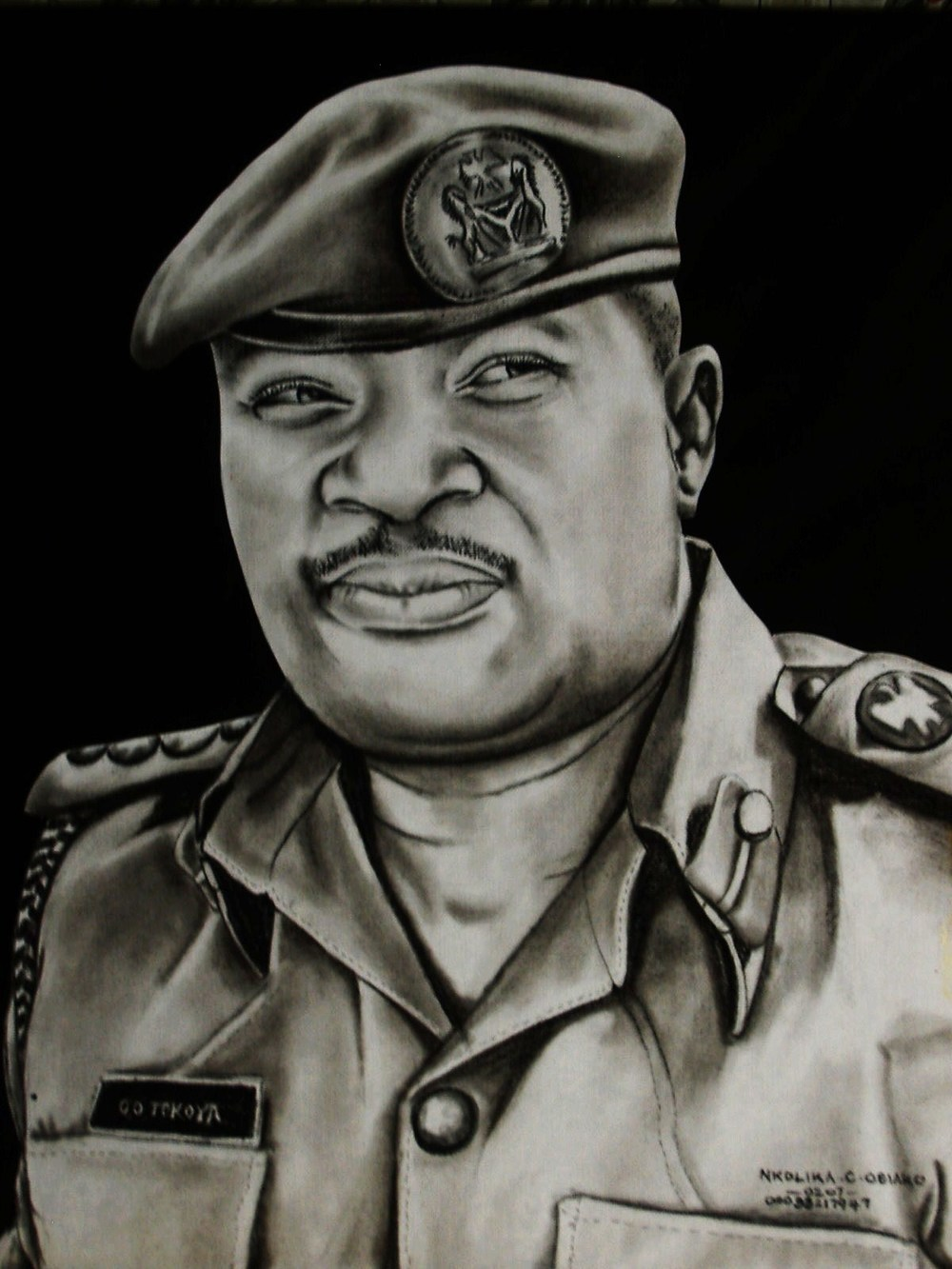 Charcoal Drawing by Nkolika Anyabolu