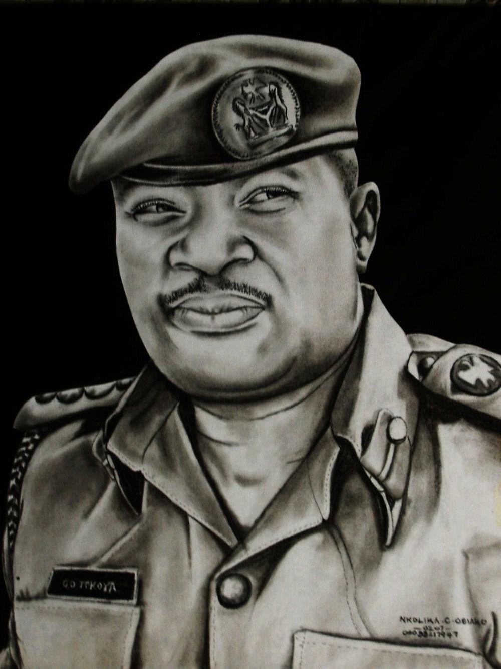 Charcoal Drawing by Nkolika Anyabolu