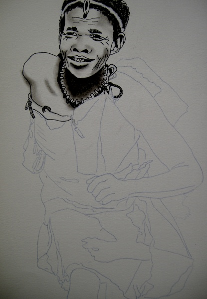 Kalahari San Bushman Botswana dancer