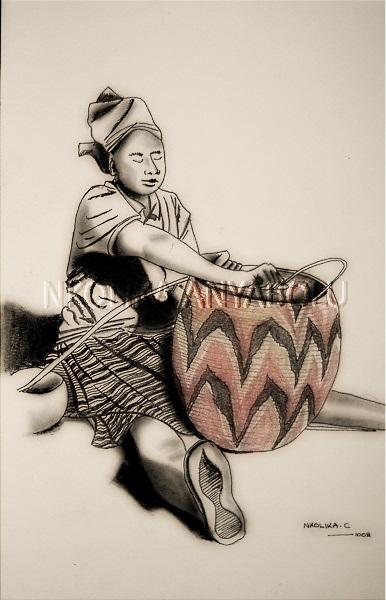 Botswana Basket Weaver