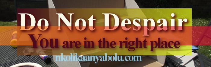 Do Not Depair