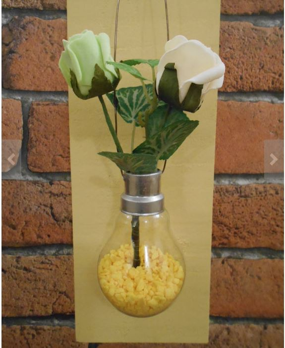 Hanging Light Bulb at Etsy Made Local Fair