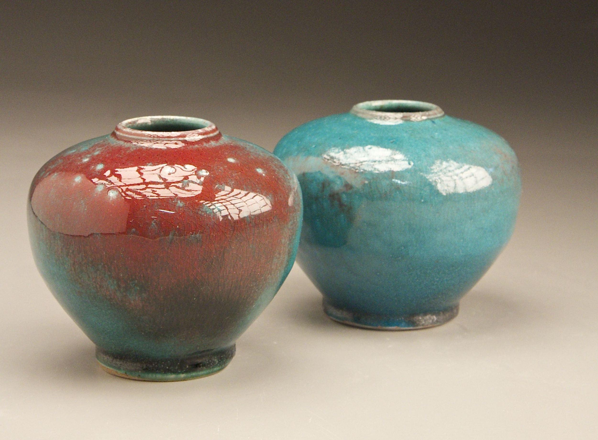 Prior works ben owen pottery square sholder vases in chinese blueg reviewsmspy