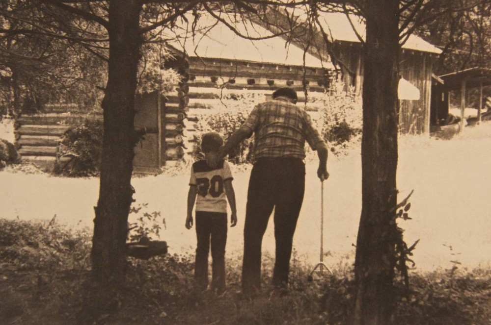 Ben Owen Sr. & Ben Owen III walking to the Pottery 1976.jpg