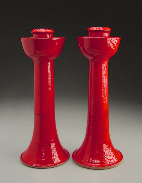 Candlesticks in Chinese Red