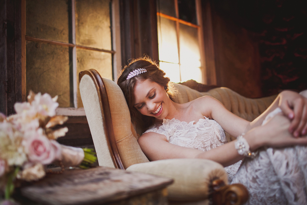 La Femme Vintage Wedding Editorial for Today's Bride Magazine.  Photographed by Jennifer Skog.