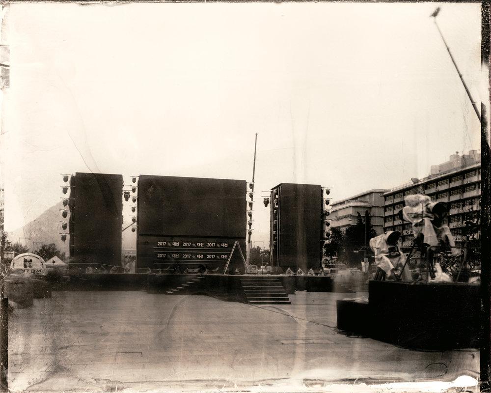 韓国-ソウル-光化門広場-2017年大韓民国大統領選挙当日  대한민국-서울-광화문광장-대한민국 제19대 대통령 선거 당일  South Korea-Seoul-Gwanghwamun Plaza-The day of the 19th South Korean presidential election