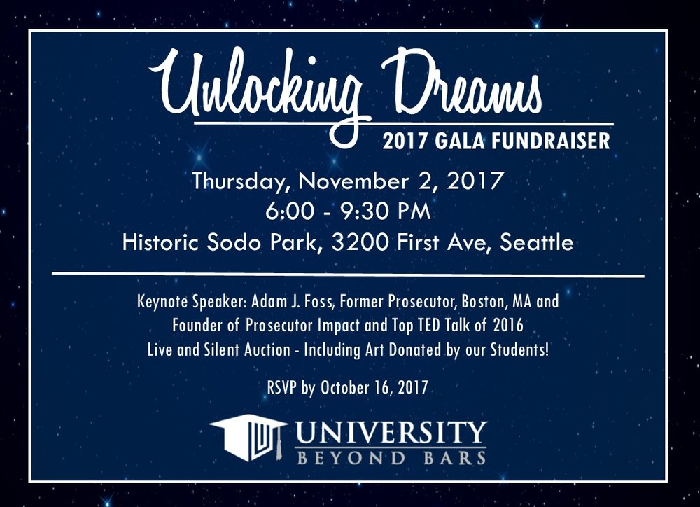 Gala Fundraiser  Unlocking Dreams  University Beyond Bars