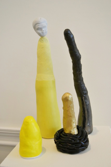 KUNTA KINTE    YELLOW FIGURE    GILDED PICKLE    PEWTER FINGER