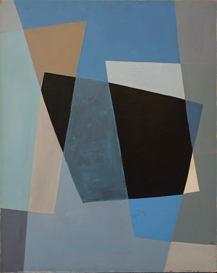 COMPOSITION WITH FOUR RECTANGLES  30(h) x 24(w) in