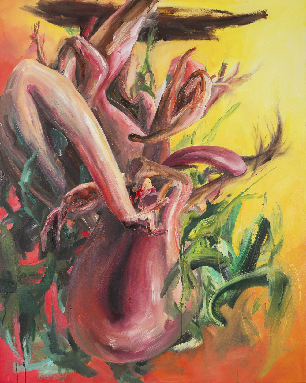 MYSELF AS A BOUQUET (FOR YOU)  45(h) x 36(w) in