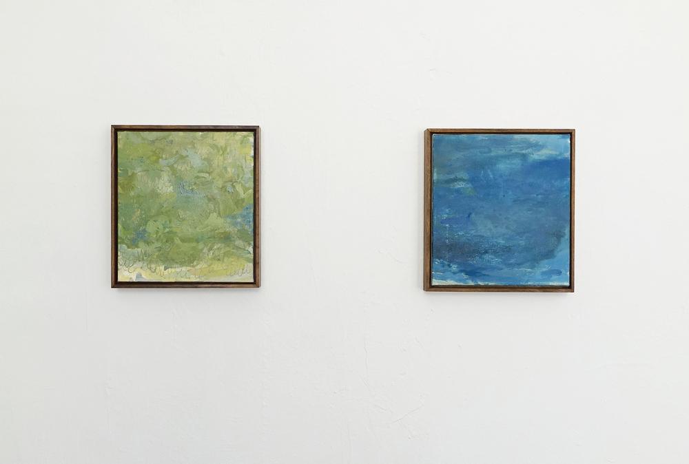 BRAMBLE  12(h) x 12(w) in   BLUE ONE  12(h) x 12(w) in