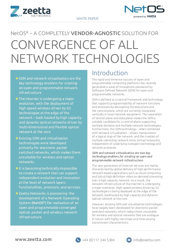 Vendor Agnostic Convergence of Technologies - A brief overview of our vision of how to allow disparate technologies to communicate with each other.