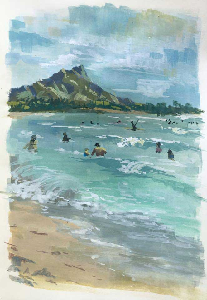 Hawaii, Priscilla Tey, Illustration Art
