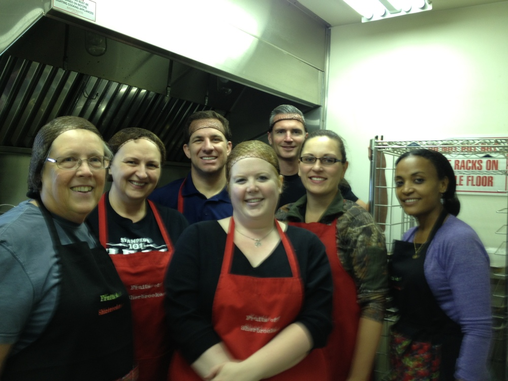 Northlands team - Northlands team in kitchen