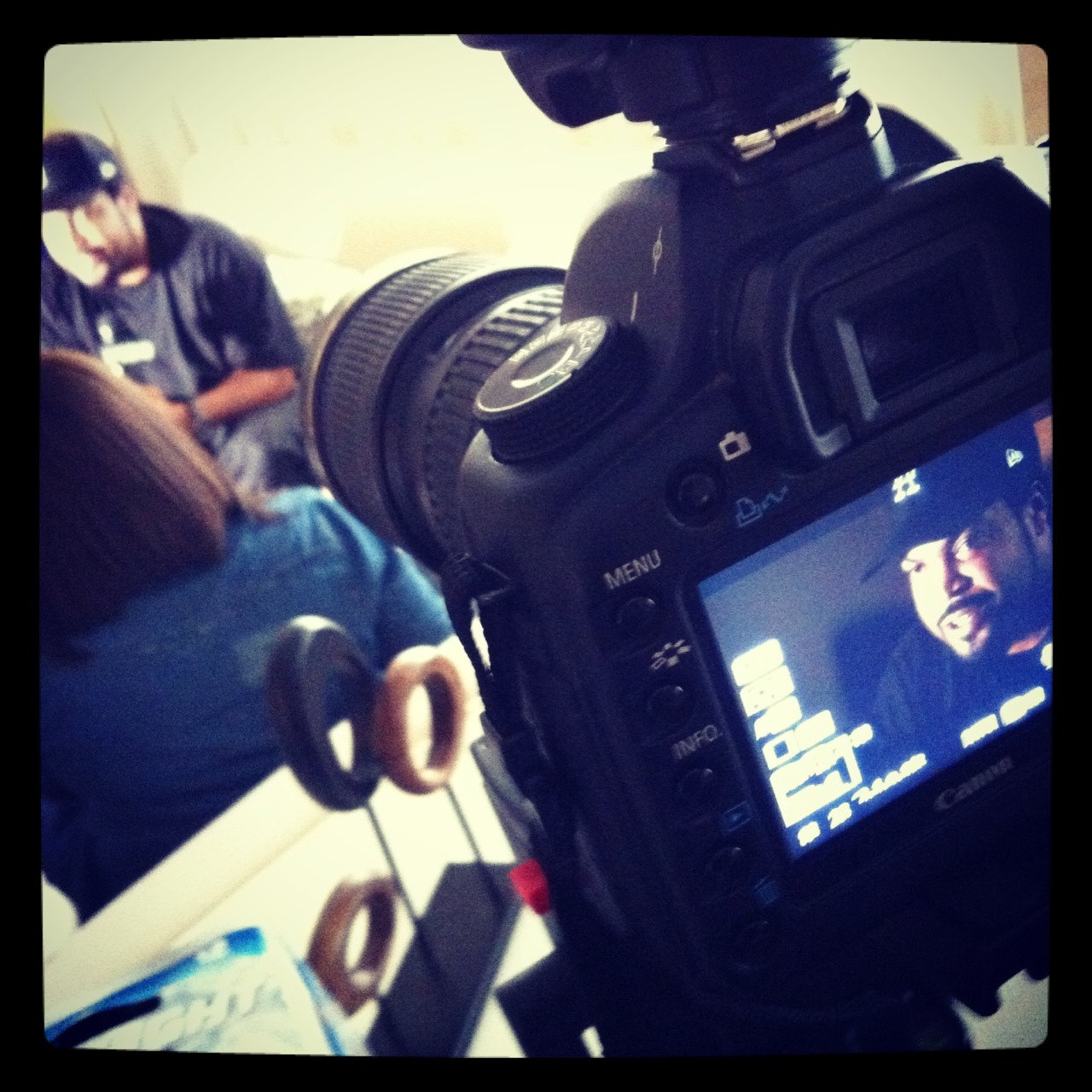 Blend Studios in LA with Ice Cube filming for MillerCoors: Search for the Coldest MC