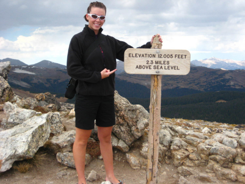 Me, at the top of Trail Ridge Road, a few months before getting sick