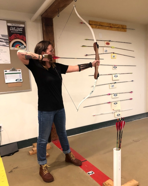 My LEMS provided much needed support (and badassery) during archery