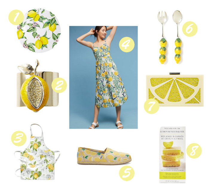 lemon-themed products