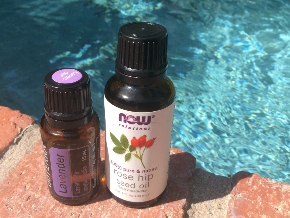 Lavender and rosehip oil