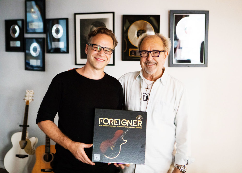 At Last... - Karsten holds forthcoming masterpiece Foreigner Orchestral with friend Mick Jones: