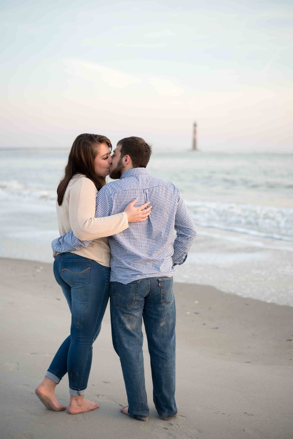Lindsey Leigh Weddings at Folly Beach in Charleston, South Carolina for Magen and John's winter engagement
