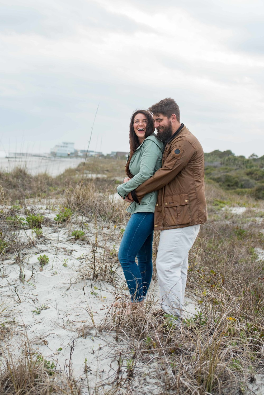 Morris Island Engagement Photos, Folly Beach