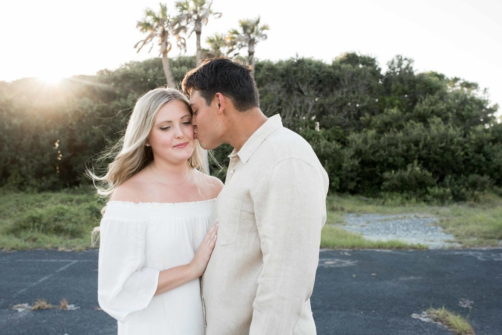 Folly Beach Engagement by Lindsey Leigh Weddings