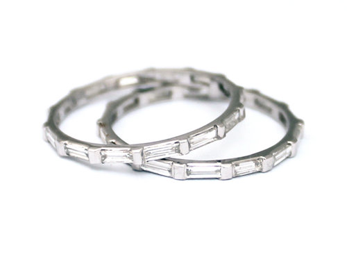 band diamond baguette platinum bands eternity