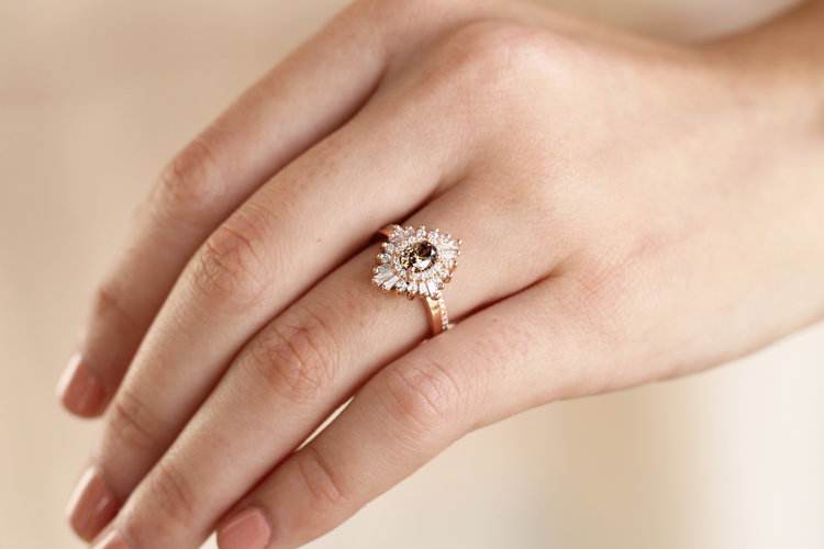 midovalgatsbychampagnejpg - Oval Wedding Ring
