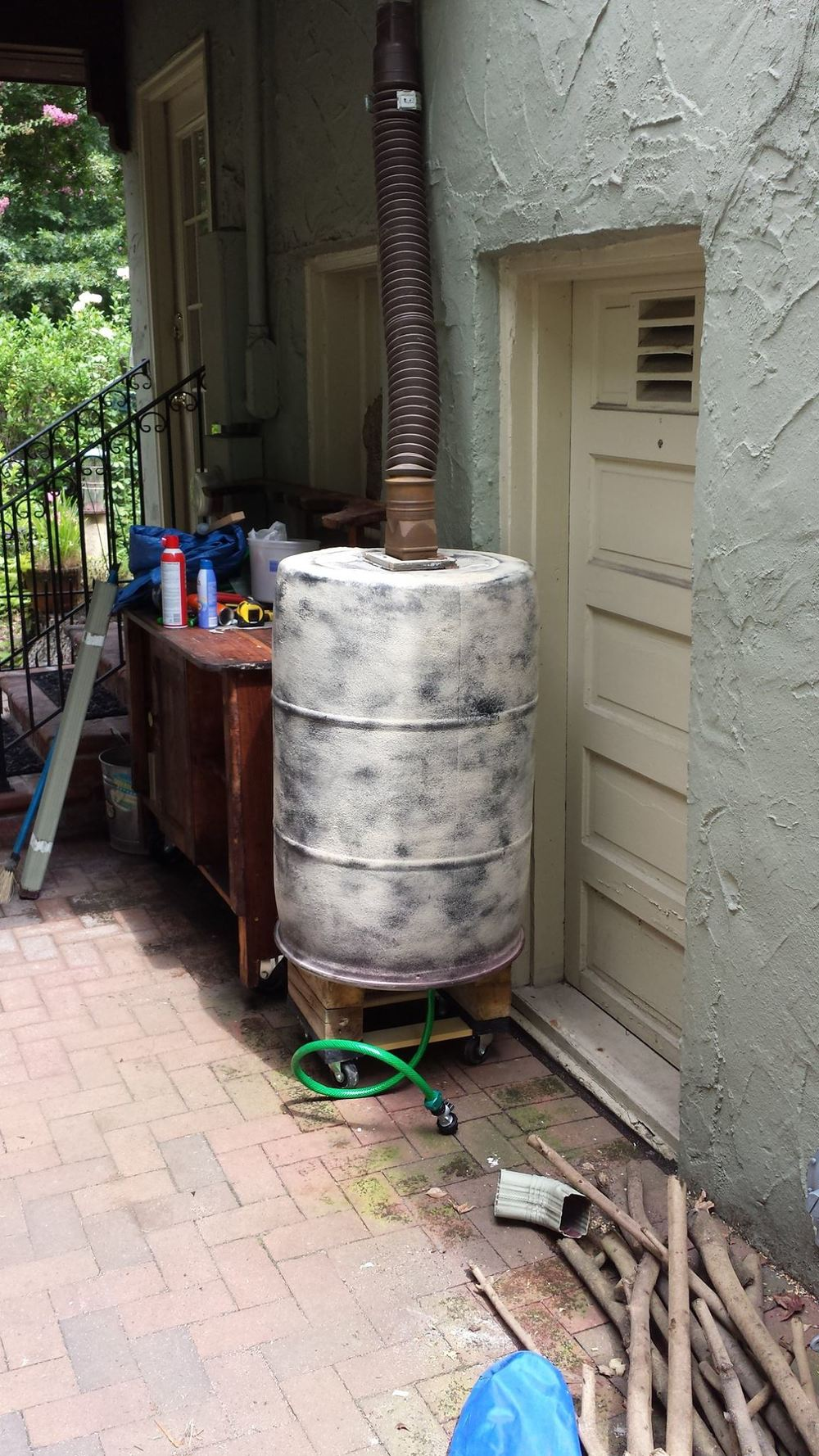 Photo credit: George Arbogust - recent rain barrel repurpose project