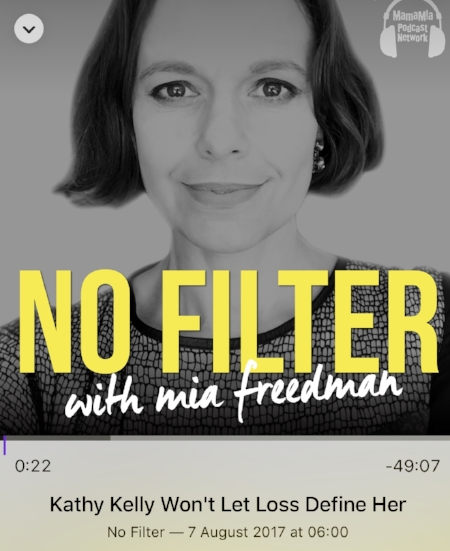 Mia Freedman chats with Kathy Kelly on her determination to make a difference.