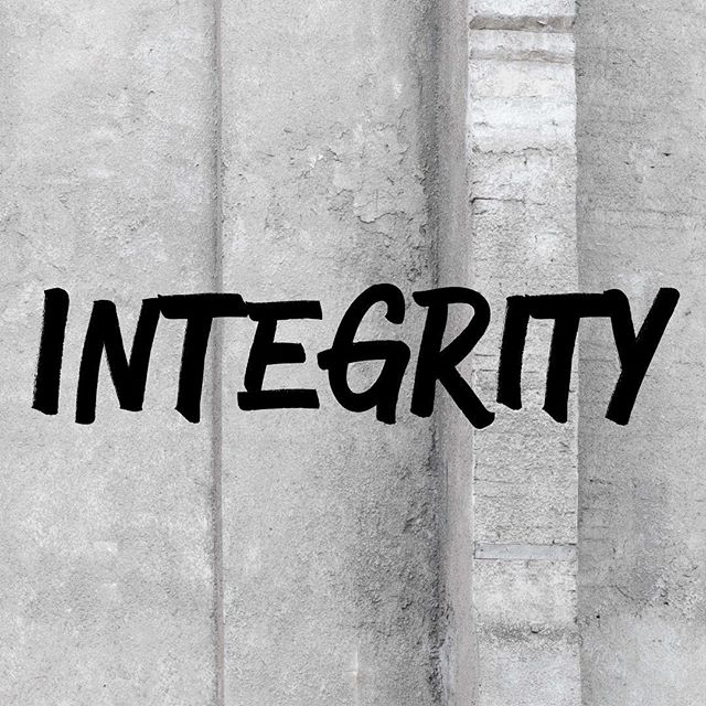 Integrity is not just who you are when nobody is watching but also when they are watching. #undividedlife