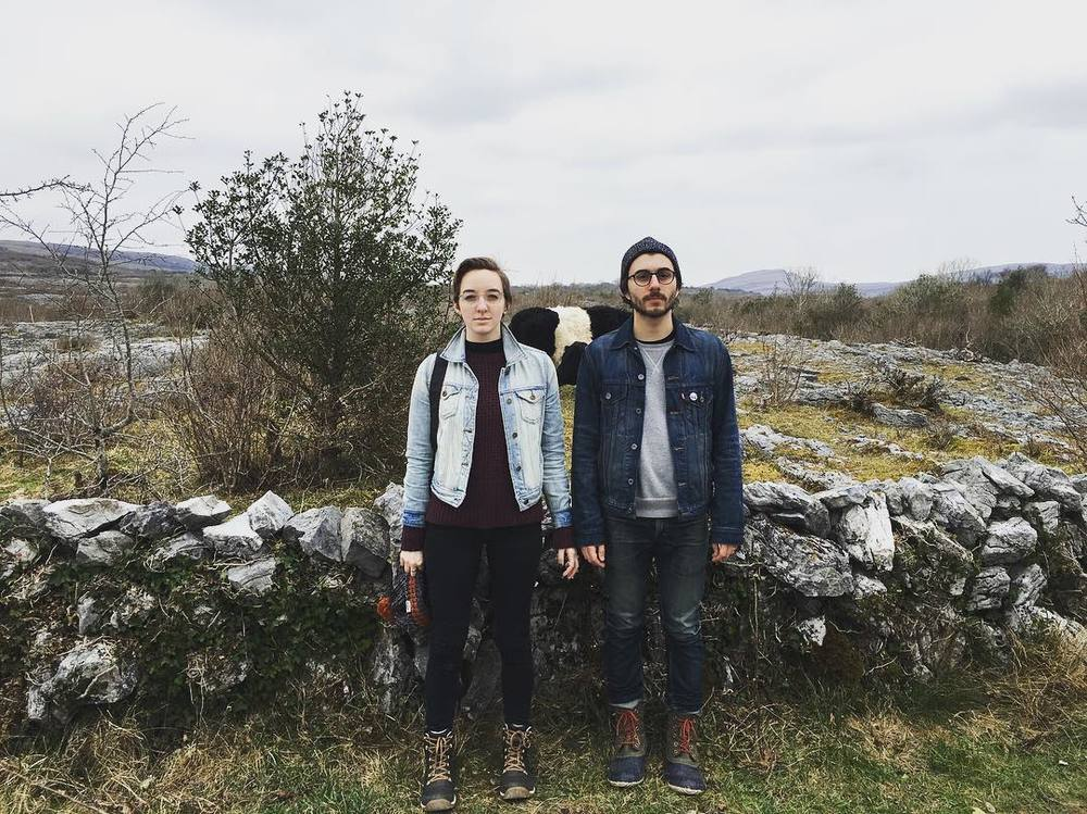 Julia and her husband Stephen, photo taken by her brother in Ireland