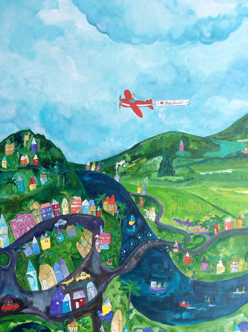 It's not a secret. I love Murwilly !!      My painting of Murwillumbah in all its beauty.