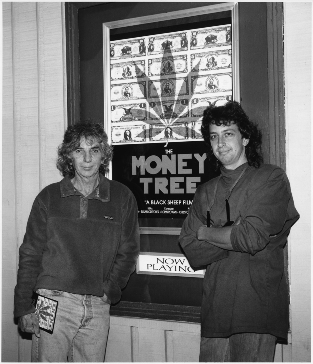 Alan & Christopher at the initial release outside  The Lark Theater  in Marin County (Sept 1991)