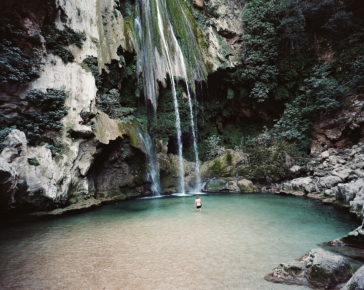 Akchour Cascade Talassemtane National Park Morocco Left