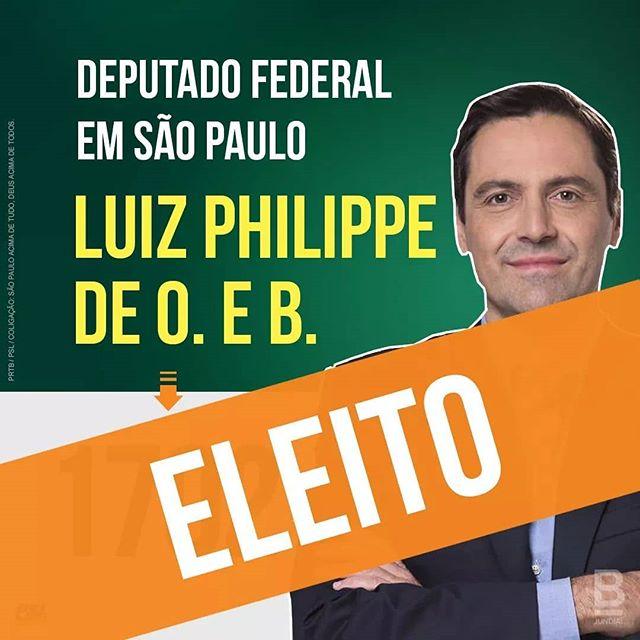 Parabéns, Príncipe Luiz Philippe de Orleans e Bragança.  Na Câmara ou no ministério, tenho certeza de que fará um excelente trabalho. #LuizPhilippeDeOrleansEBragança #BolsonaroPresidente17