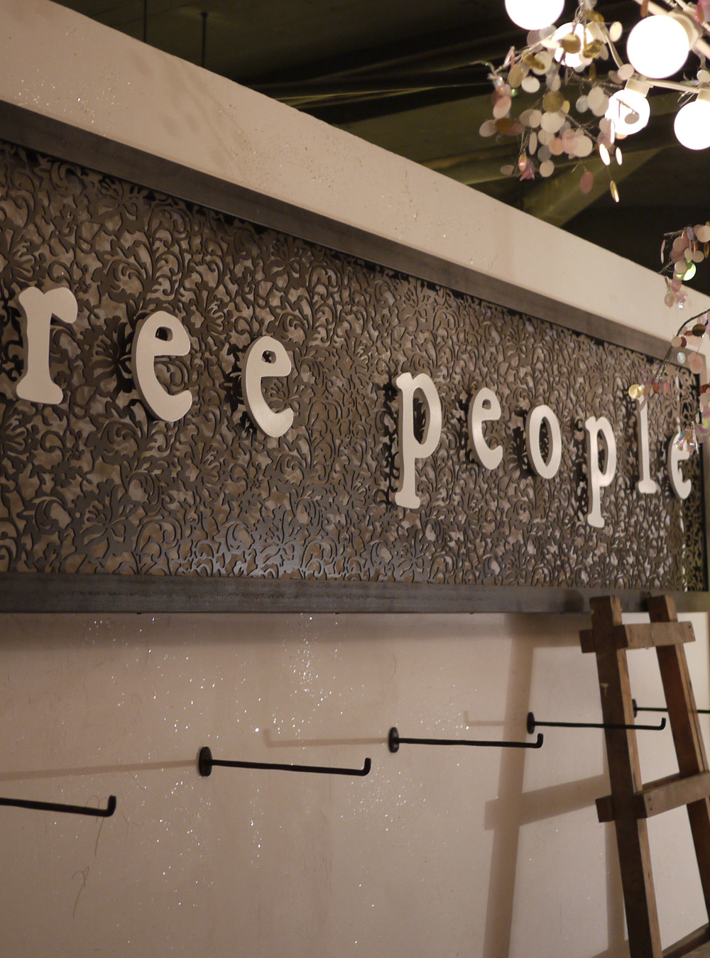 Specialized finish and display installation at Free People wholesale shop, Shanghai, China