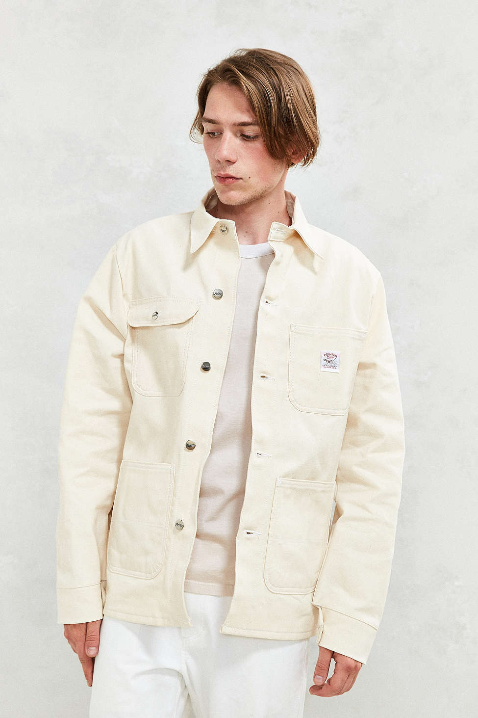 beige textured backdrop for UO Men's